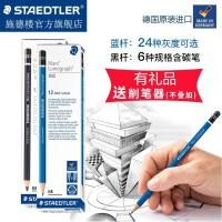 德国施德楼STAEDTLER 100蓝杆盒装 24种灰度 2B|4B|6B|8B素描绘图书写铅笔 新增12B|11B|