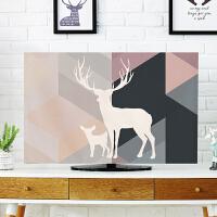 ???欧式电视机防尘罩42寸电视机套防尘布北欧简约壁挂式液晶防尘盖布