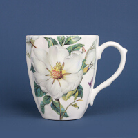 骨瓷马克杯欧式咖啡杯家用喝水杯大容量陶瓷杯子早餐杯英式田园杯