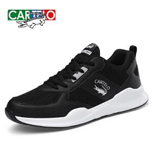 卡帝乐鳄鱼秋季网布鞋男鞋子韩版潮流休闲运动鞋跑步鞋男士板鞋潮鞋