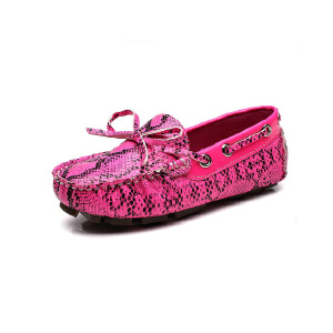 比比我新品新款品童鞋2017春新款女童豆豆鞋女时尚皮鞋