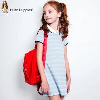 【3件3折:110.7元】暇步士童装夏季纯棉时尚条纹POLO裙