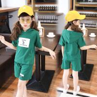女童夏装套装短袖新款儿童两件套女孩夏季运动服大童装