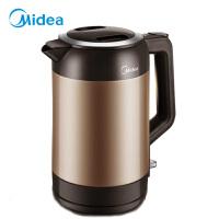 美的(Midea)电热水壶304不锈钢 1.9L容量 真空保温 防溢防倾倒烧水壶VJ1901A