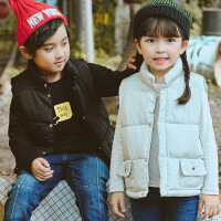 花样童依 儿童马甲2018冬季新款韩版女童棉马甲男童加厚坎肩中小童背心外穿
