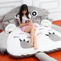 懒人床垫单人龙猫床榻榻米加厚可爱卡通床垫折叠打地铺睡垫可拆洗