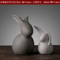 创意陶瓷工艺品兔子摆件欧式家居客厅装饰品摆设结婚礼物