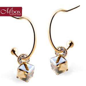 新年礼物Mbox耳环 气质女韩国版原创采用施华洛世奇元素水晶耳钉耳环 馨香