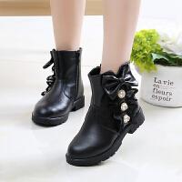 儿童靴子女童鞋冬季韩版公主靴2018新款女孩短靴中筒靴雪地靴