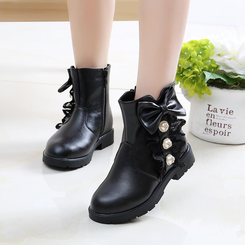 儿童靴子女童鞋冬季韩版公主靴2018新款女孩短靴中筒靴雪地靴   走进大自然的怀抱,美丽从这里起步。
