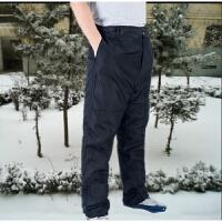 冬季羊皮裤皮毛一体裤中老年男女真皮羊剪绒羊皮裤羊毛裤保暖棉裤 黑色