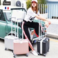 铝框旅行箱万向轮行李箱小型迷你拉杆箱女16寸皮密码登机箱男