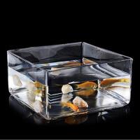 客厅摆件装饰品 欧式方形玻璃花瓶 20x20x10