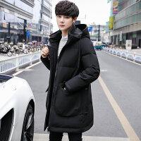 2018新款冬季中长款加厚男士羽绒服韩版潮流帅气青年保暖冬装外套