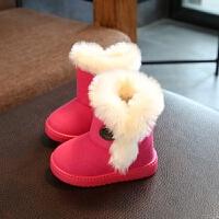 女童雪地靴男童棉鞋秋冬季儿童短靴加绒加厚保暖宝宝棉靴