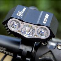 自行车车前灯t6/L2山地车头灯单车大灯充电USB夜骑装备配件