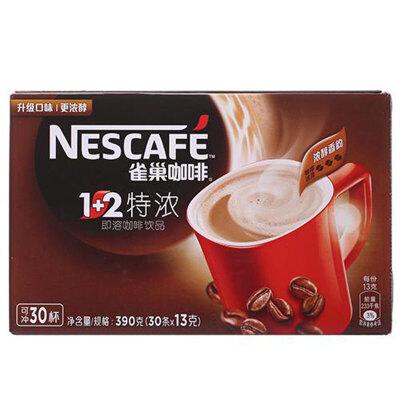 【中粮我买】雀巢咖啡1+2特浓(30杯)390g