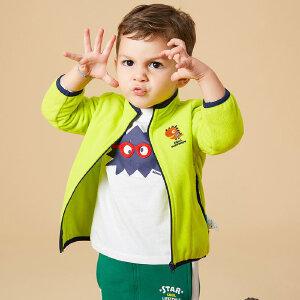 【1件3折到手价:37.5】美特斯邦威旗下Moomoo童装幼童小童宝宝多色摇粒绒薄款外套春秋中性款新款