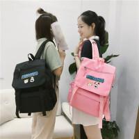 书包女韩版原宿高中学生背包学院风帆布可爱大容量双肩包