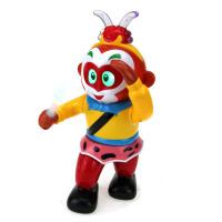 齐天大圣孙悟空电动万向旋转金箍棒跳舞机器人猴哥逼真声灯光玩具 抖音 送3节5号电池+螺丝刀