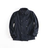 男士毛呢外套 双排扣时尚夹克2M