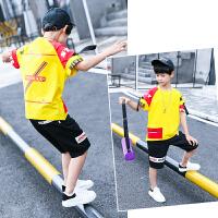 男童夏装新款套装夏季童装儿童短袖两件套中大童男孩韩版潮衣