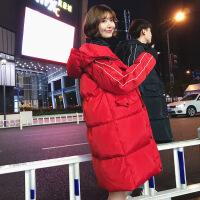 2018新款冬季士中长款韩版潮流工装学生羽绒情侣装棉衣