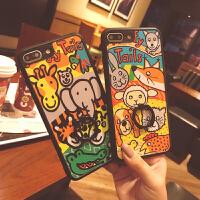 XSMAX韩国卡通可爱萌动物iphone8手机壳6s支架7plus套苹果XR硅胶x 6/6s Q萌大象乐园指环