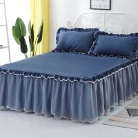 ???韩式床裙席梦思床罩单件1.8米/1.5/2.0m防滑保护套盖床笠床单夏季