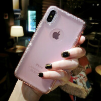 闪粉苹果X手机壳女iphone7p硅胶韩国6s全包防摔新款8plus时尚