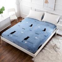 加厚法兰绒床笠单件席梦思床垫保护套冬季珊瑚绒速热保暖床套床罩