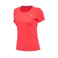 【书香节】李宁女款短袖T恤夏季女士舒适透气短袖训练服运动上衣ATSM132