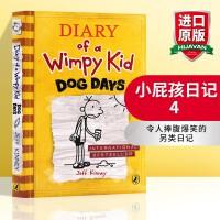 小屁孩日记4英文原版 Diary of a Wimpy Kid 4 Dog Days 儿童英语课外阅读章节桥梁书 趣味