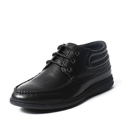 Belle/百丽专柜同款冬季牛皮男休闲靴4RE01DD6