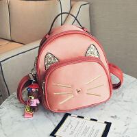 幼儿园宝宝大班书包6-12周岁韩版女童迷你小背包儿童潮女孩包包 粉色 F15130 送挂件