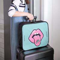 出差短途旅行包男小手提旅行袋斜跨女大容量行李收纳包可挂行李箱