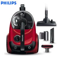 飞利浦 (PHILIPS) 卧式吸尘器 家用大功率大吸力多种吸嘴无尘袋 FC8760/81 (果冻红)