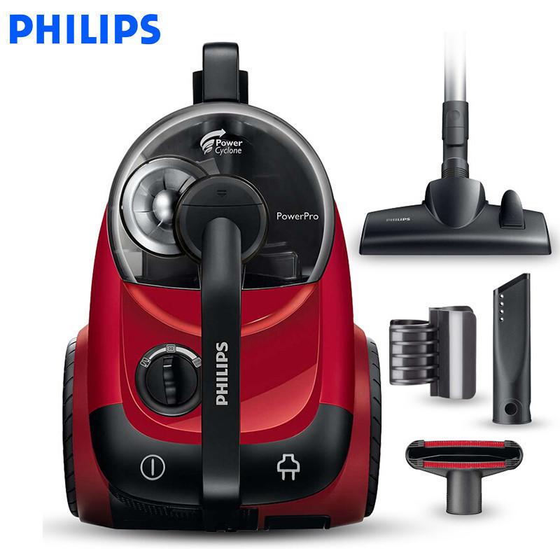 飞利浦 (PHILIPS) 吸尘器 家用FC8760 大功率1800W强力吸尘机 无耗材低噪音(果冻红)大功率水洗滤网 分离灰尘与空气