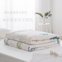 纯棉夏凉被绗缝空调被全棉夏被 可水洗单双人棉花被芯薄被子定制!