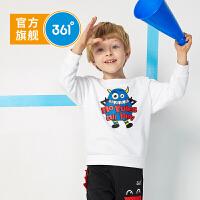 【冰点秒杀价:55】361度童装男童卫衣2019年秋季新品休闲套头上衣长袖卫衣N51914301