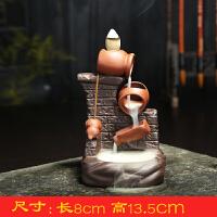 创意陶瓷倒流香炉烟观赏塔香仿古点香座佛具居室摆件檀香线香熏炉