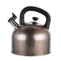 仁品 烧水壶304不锈钢鸣笛开水壶加厚大容量4L-6L电磁炉家用热水壶通用煤气 304不锈钢材质 可拆换鸣笛大容量