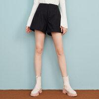 【1件3折到手价:71.7】美特斯邦威呢子短裤打底外穿女冬季新款毛呢短裤韩版商场款