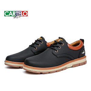 卡帝乐鳄鱼 男鞋子秋季工装鞋低帮复古马丁鞋靴英伦皮鞋休闲大头鞋