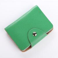 卡包女式卡包男银行*套情侣名片包女式多卡位卡夹s6 绿色