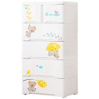 宝宝抽屉式收纳柜子儿童衣柜塑料 卡通储物柜婴儿五斗柜