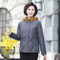 №【2019新款】送妈妈的款冬装洋气外套棉衣短款中年女装高贵加厚中老年时尚羽绒