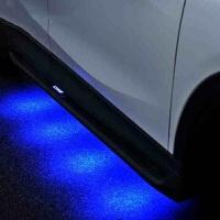 适用于马自达CX-4 CX-7脚踏板CX-5侧踏板 迎宾踏板 专用改装升级外饰 cx-5 欧版黑边带蓝灯 强承重力