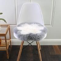 新款新西兰卷羊毛坐垫沙发垫椅子垫卷毛动物图案椅垫多莉羊梅花垫 45x45cm