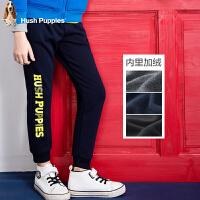 【暇步士大牌日】暇步士童装冬季新款裤子男童单层印花长裤儿童时尚加绒裤